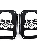KAWELL Skull Gas Mask Black Tail Light Guards Protector For 2007-2016 Jeep Wrangler 2/4 door Sport X Sahara Unlimited Rubicon Rear Taillights (Tail L