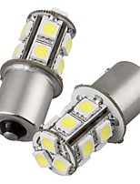 2шт 1156 13 * 5050smd светодиодная лампа накаливания автомобиля теплый свет dc12v