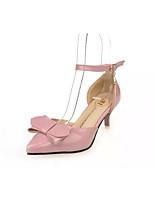 Mujer-Tacón Stiletto-Innovador Zapatos del club-Sandalias-Boda Oficina y Trabajo Vestido Informal Fiesta y Noche-Cuero Patentado-Blanco