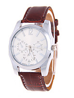 Women's Men's Unisex Fashion Watch Quartz Leather Band Casual Black Brown