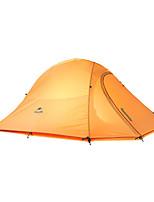 2 человека Световой тент Двойная Складной тент Однокомнатная Палатка Сохраняет тепло Складной-Походы-серый