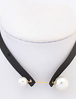 Choker Necklaces Women's Girls' Euramerican Fashion Geometric Pearl Necklace Daily Party Movie Jewelry Gift Jewelry