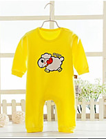 Baby Casual/Daily Solid Print One-Pieces,Cotton Spring Fall Long Sleeve