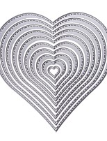 10Pcs Heart Stencils Metal Cutting Dies Diy Scrapbooking Decorative Paper Cards Template Cut Dies Accessory