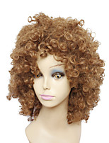 Capless Medium Length Light Brown Women's Curly Wig