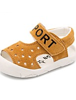 Для детей Дети Сандалии Удобная обувь Свиная кожа Лето Повседневные Удобная обувь На плоской подошве Серый Желтый ЗеленыйНа плоской