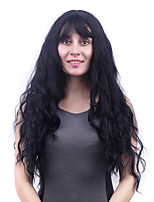 Long Body Wave Black Women Synthetic Wig Fiber Cheap Cosplay Party Hair