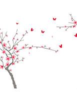 Adesivos de parede de parede decalques estilo grande árvore em plena flor pvc adesivos de parede