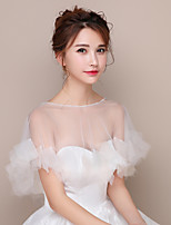 Women's Wrap Capelets Tulle Wedding Party/Evening Beading