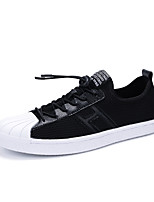 Men's Sneakers Spring Fall Winter Comfort Patent Leather Outdoor Office & Career Casual Flat Heel Black White