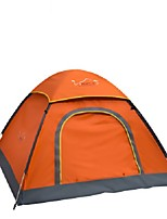 3-4 persons Tent Single One Room Camping TentCamping Traveling-Orange