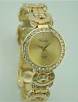 Women's Fashion Wrist watch Quartz Rhinestone Alloy Band Casual Gold Brand
