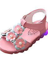 Girls' Sandals Summer Comfort PU Outdoor Flat Heel
