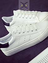 Women's Sneakers Spring Comfort PU Casual White/Green Black/White White