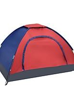 2 personnes Tente Unique Une pièce Tente de campingCamping Voyage-Rouge Bleu