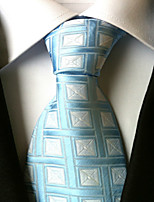 Men's Polyester Neck TieWork Casual Houndstooth All Seasons W0012