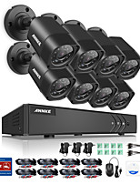 Annke® 8ch 8pcs 720p cámara de vídeo hd 4in1 dvr ip red de seguridad de vigilancia sistema de CCTV