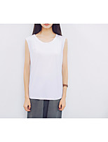 Women's Going out Simple Tank Top,Solid V Neck Sleeveless Modal