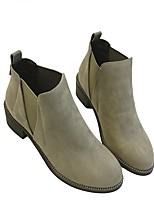 Women's Boots Spring Comfort PU Casual Low Heel Gray Black