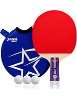 2 Звезды Ping Pang/Настольный теннис Ракетки Ping Pang Дерево Короткая рукоятка Прыщи
