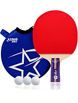 2 étoiles Ping Pang/Tennis de table Raquettes Ping Pang Bois Manche Court Boutons