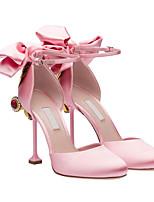 Frauen Fersen Frühling Komfort Leder Party&Abend lässige Bildschirm Farbe erröten rosa schwarz