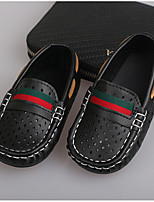 Boys' Sneakers Moccasin Rubber Wedding Outdoor Party & Evening Low Heel Black White