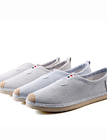 Men's Sneakers Spring Summer Mary Jane Canvas Casual Gore Gray Beige