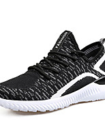 Men's Sneakers Spring Fall Comfort Fabric Outdoor Flat Heel Lace-up Black/Red Black/White Blue Gray Black Walking