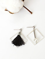 Stud Earrings Tassel Euramerican Fashion Alloy Geometric Silver Jewelry For Daily 1 Pair