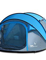 FLYTOP 3-4 человека Световой тент Двойная Автоматический тент Однокомнатная Палатка 1500-2000 мм Стекловолокно ОксфордВодонепроницаемый