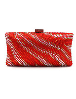L.WEST Woman Fashion Luxury High-grade Zebra Stripe Hot Drilling Evening Bag