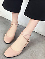 Women's Heels Spring Summer Club All Match Pump OL Style Shoes Gladiator Comfort Suede Office & Career Dress Chunky Heel Buckle