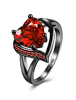 Ring Settings AAA Cubic Zirconia Movie Jewelry Euramerican Fashion Luxury Statement Jewelry British Zircon Copper Gold Plated Red Purple