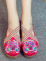 Women's Sneakers Spring Comfort Fabric Casual Blue Red Black