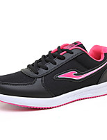 Women's Athletic Shoes Spring Summer Creepers Tulle Outdoor Athletic Casual Platform Lace-up Light Blue Blushing Pink Purple Black Walking
