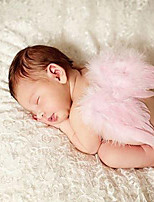 Newborn Baby's Feather  Modelling of the Angel Red Pink Green White Photographic Cloths