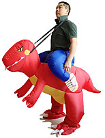 Inflatable Red Dinosaur Costume Adult Fancy Dress Costume Jump Suit Disfraces Adultos Hen Stag Outfit Cosplay