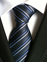 Men's Polyester Neck TieParty Work Striped All Seasons W0005