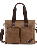 Men Canvas Casual Office & Career Tote Army Green khaki Coffee Black