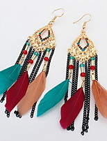 Women's Girls' Drop Earrings JewelryBasic Unique Design Tassel Friendship British Classic Durable Elegant Sexy Fashion Vintage Punk