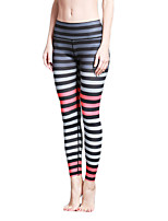 Women's Fashion Sexy Striped Tights High Elastic Fitness Sports Yoga Leggings Size S-XL