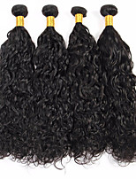 Natural Color Hair Weaves Mongolian Texture Water Wave 12 Months 4 Pieces hair weaves