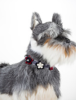 Cat Dog Floral Adjustable  Collar Bowtie
