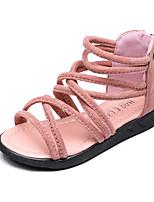 Girls' Sandals Summer Gladiator Comfort Leatherette Outdoor Office & Career Party & Evening Casual Flat Heel ZipperBlushing Pink Green