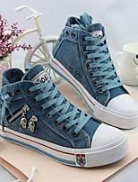 Women's Sneakers Spring Fall Comfort Canvas Casual Flat Heel Light Blue Green Dark Blue
