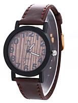 Жен. Модные часы Наручные часы Китайский Кварцевый / PU Группа Полоски Черный Коричневый