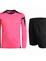 Men's Soccer Clothing Sets/Suits Breathable Quick Dry Summer Polyester Football/Soccer Light Blue Blushing Pink Blue Green Black