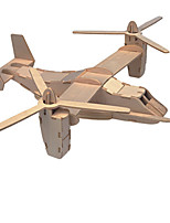 Puzzles Puzzles 3D Blocs de Construction Jouets DIY  Avion Bois Maquette & Jeu de Construction