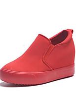 -Для женщин-Для прогулок Повседневный-Полотно-На танкетке-Удобная обувь-Мокасины и Свитер